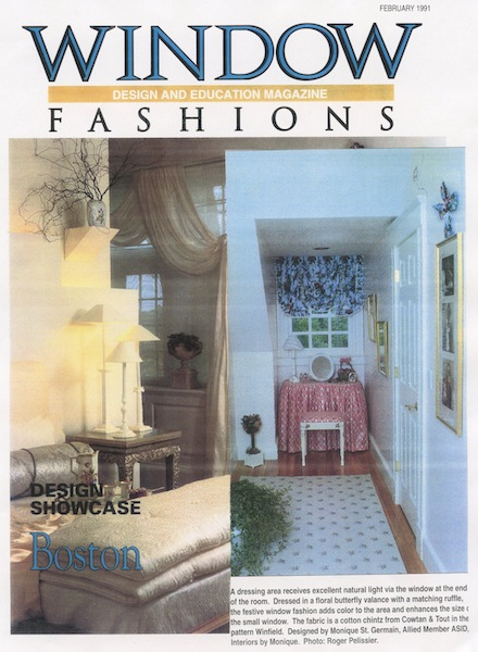 Window Fashions Magazine clipping - Interiors by Monique